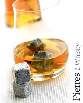 Pierre et verre pour un whisky